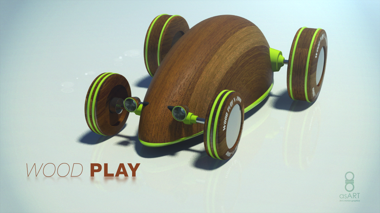 Wood Play | Mouse on Wheels